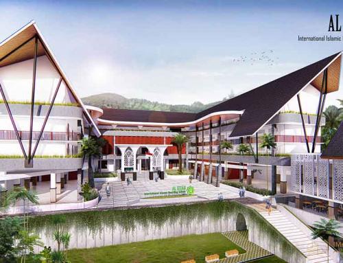 Gedung Asrama, Ruang Makan, dan Sekolah SMA Al Izzah Putri